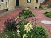 historic garden design with heirloom iris
