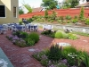 historic garden set up for event