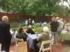 family event in historic garden